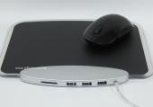 特式 2合1集線器連滑鼠墊LED燈