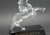 特製馬形水晶獎座