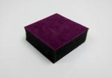 黑色軟海綿加紫色絨布...