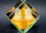 特製3D內雕水晶奬座