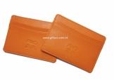 PU橙色咭片套